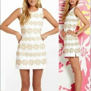 Lilly Pulitzer Delia White Truly Petal Lace Dress